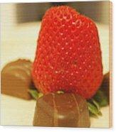 Strawberry And Chocolate Wood Print