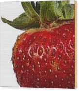 Strawberry Close Up No.0011 Wood Print