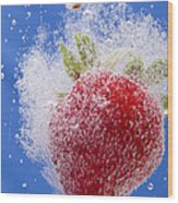 Strawberry Soda Dunk 1 Wood Print