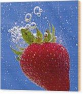 Strawberry Soda Dunk 3 Wood Print by John Brueske