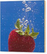 Strawberry Soda Dunk 5 Wood Print by John Brueske
