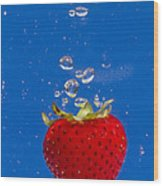 Strawberry Soda Dunk 6 Wood Print
