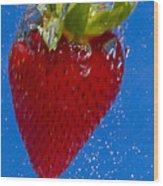 Strawberry Soda Dunk 7 Wood Print