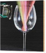 Straws In A Glass At Resonance Wood Print