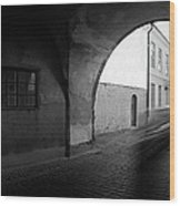 Streaking Car Visby Wood Print