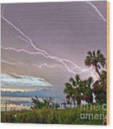 Streak Lightning Wood Print