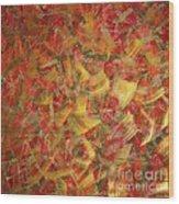 Streaks Of Gold Wood Print
