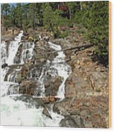 Streaming Glen Alpine Falls Wood Print