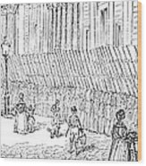 Street Advertising, 1842 Wood Print