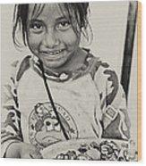 Street Child  Wood Print