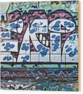 Street Graffiti - Tubs II Wood Print