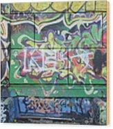 Street Graffiti - Tubs IIi Wood Print