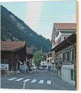 Street In Interlaken In Switzerland Wood Print