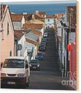 Street In Lagoa - Azores Wood Print