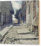 Street In Safed Wood Print