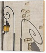 Street Lamp And Shadow Wood Print by Igor Kislev