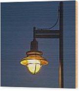 Street Lamp At Night. Wood Print