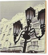 Street Lamps Of Budapest Hungary Wood Print