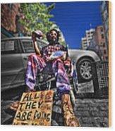 Street Life 4 Wood Print