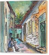 Street Life In Nicosia Wood Print