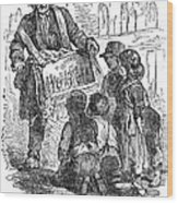 Street Musician, 1850 Wood Print
