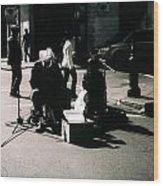 Street Musicians- Grandpa Elliot Wood Print