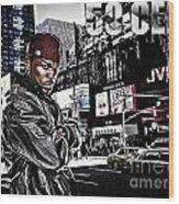 Street Phenomenon 50 Cent Wood Print
