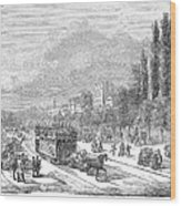Street Railway, 1853 Wood Print
