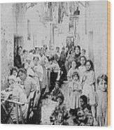 Street Scene In Athens Greece - C 1919 Wood Print