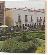 Street Scene In Plaza De La Paz Wood Print