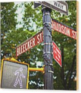 Street Signs In Nyc Wood Print