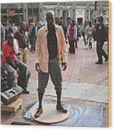 Street Tap Dancers No. One Wood Print