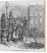 Street Telescope Wood Print