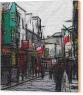 Streetlife Wood Print by Steve K