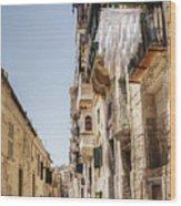 Streets Of Valetta Wood Print