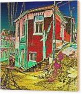 Streets Of Valparaiso Wood Print