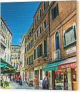 Streets Of Venice Wood Print