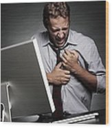 Stress-related Heart Attack Wood Print