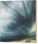 Striations Overhead Wood Print