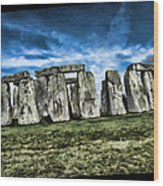 Striking Scene Of Stonehenge Wood Print