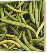 String Beans Wood Print by Tanya Harrison
