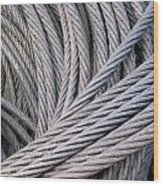 Strong Wire Rope Wood Print