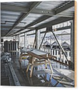 Structural Steel Construction. Metal Wood Print by Don Mason