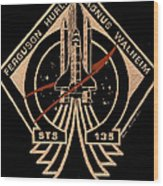 Sts-135 One Last Time Wood Print by Jim Ross