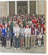 Students Catholic Schools 2007 Wood Print