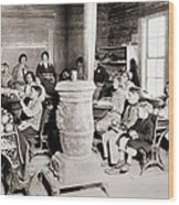 Students In A One-room School Wood Print