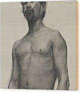 Study Of A Negro Man Wood Print