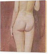 Study Of A Nude Wood Print by Murray Bladon