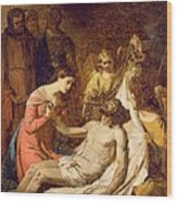 Study Of The Lamentation On The Dead Christ Wood Print