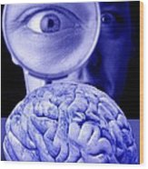Studying The Brain, Conceptual Image Wood Print